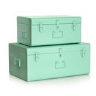 Home Decoration Steel Metal Trunk Box With lock