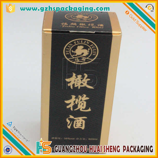 Flat packaging Olive wine packaging 750ml bottle wine box wholesale