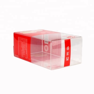 Food Outer Packaging Transparent PET PP Plastic Folding Gift Box With Logo Printing