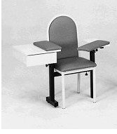 Chair w/drawer & padded back, 41
