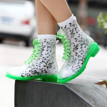 Clear High Heel PVC Rain Boots Women s Cute Soft Rain boots Over Shoe  Waterproof Shoes Sale 4d697400a
