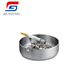 304 Stainless Steel Portable Round Shape Metal Ashtray Outdoor Custom Cigar Ashtray