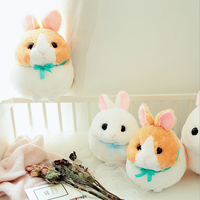Wholesale stuffed round rabbit ball plush cute cuddly chubby rabbit toy plush crane machine rabbit toy