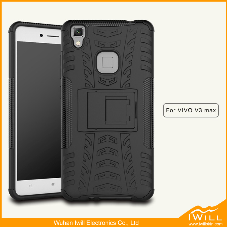hot sale 2017 shockproof case for vivo v3 max phone accessories mobile with foldable kickstand