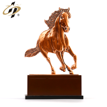 2019 Promotion gift customize 3D red bronze Speeding horse metal souvenir plates