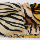 Zebra Pattern Animal Print Polyester Knit Velboa Fabric For Sofa/Cushion/Bag