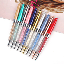 2016 new alibaba promotional crystal pens small minimum order economic metal wedding pen