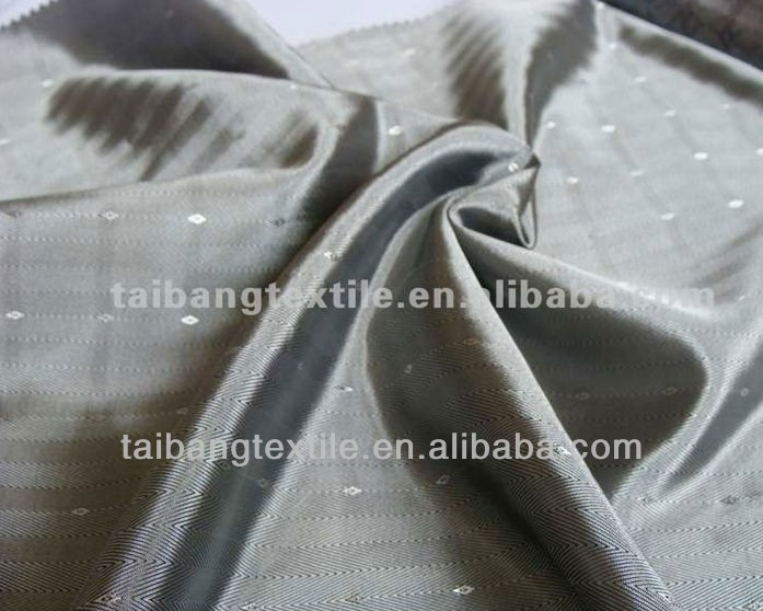 silver color dobby 100% polyester 63*66 136*90 63gsm taffeta lining fabric