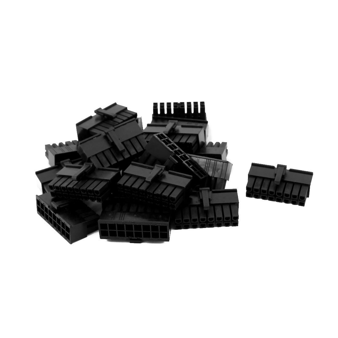uxcell 20pcs Double Row Male Housing 5557 4.2mm Pitch 16P Connector Plastic Shell