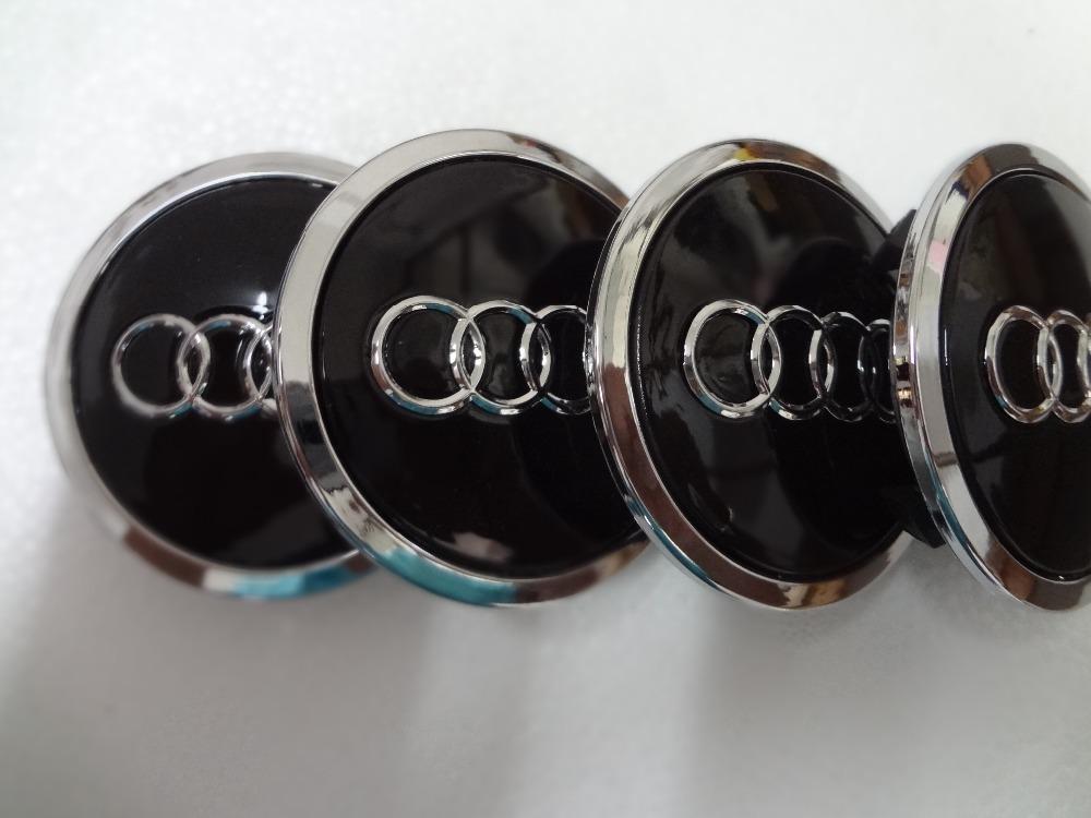 4 шт. новый 68 мм для audi центра колеса концентратор колпачки стайлинга автомобилей OEM 4B0 601 170A серый / черный автомобиль обложка бесплатная доставка