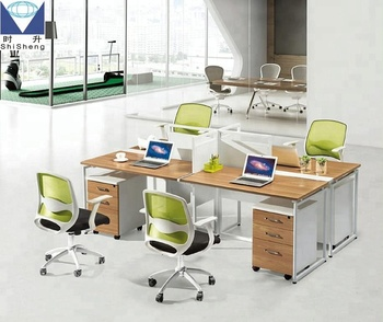 Office Furniture 4 Person Office Workstation Layout With Divider Buy Office Furniture 4 Person Office Workstation Layout With Divider Commercial