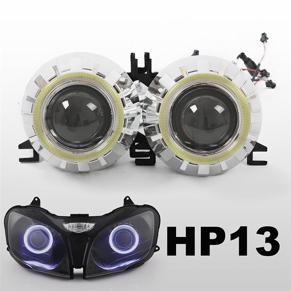 KT Tailor-Made HID Projector Kit HP13 for Kawasaki ZX-9R 2000-2003 White Angel Eye