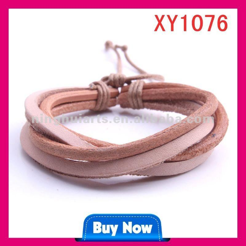 Leather Greek Plain Snap Love Bracelets