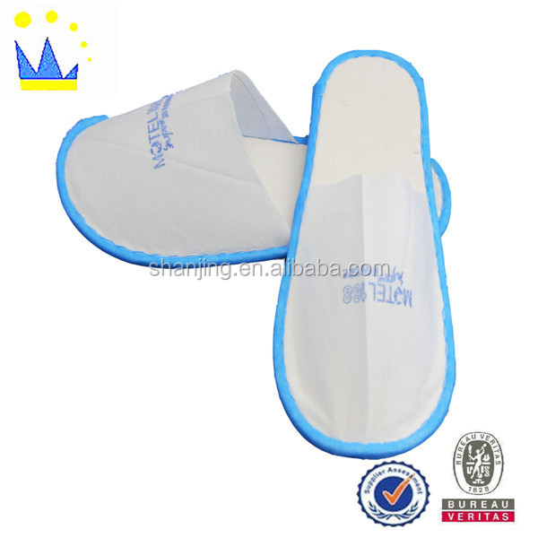 classic luxury promotional woven quick hotel slipper