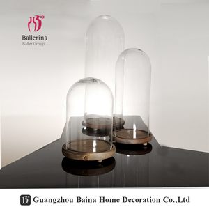 Wholesale Decorative Clear Blown Glass Bell Jars Glass Dome Cloches
