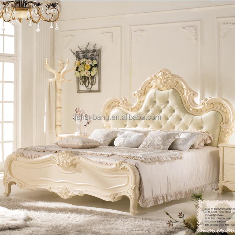 Europeo moderno stile barocco francese bianco avorio specchiera in ...