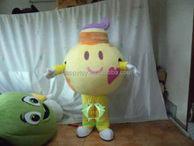HI CE lovely walking fat ice cream mascot costume,cheap plush ice cream mascot for activity
