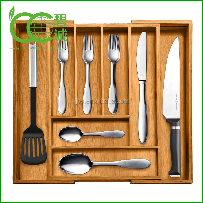 Wholesale Cheap Bamboo Kitchen Drawer Organizers Storage Box