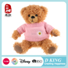 Custom T-shirt Pink Sweater Plush Stuffed Toy Soft Teddy Bear