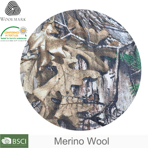 Wool camouflage fabric OEM, 100% knitted fabric wool