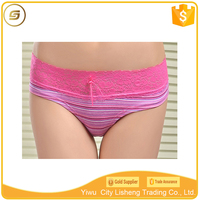 Soft comfortable cheap price stripe lady underwear/wholesale underwear lady 95 cotton 5 spandex