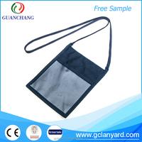 Factory wholesale neck strap size custom zipper lanyard for big card holder