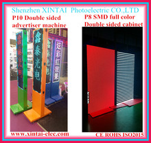 Two sides led sign outdoor P10 full color double side led video sign