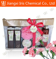 Shower Gel, Bubble Bath,bath gift set wholesale with carnation flavor