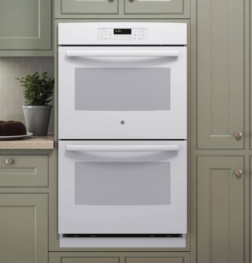 "GE JT3500DFWW 30"" White Electric Double Wall Oven"