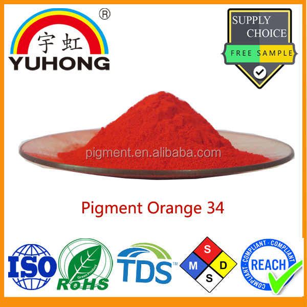 Dyes and Organic Pigments Producer Masterbatch and Plastic Pigment Orange 34