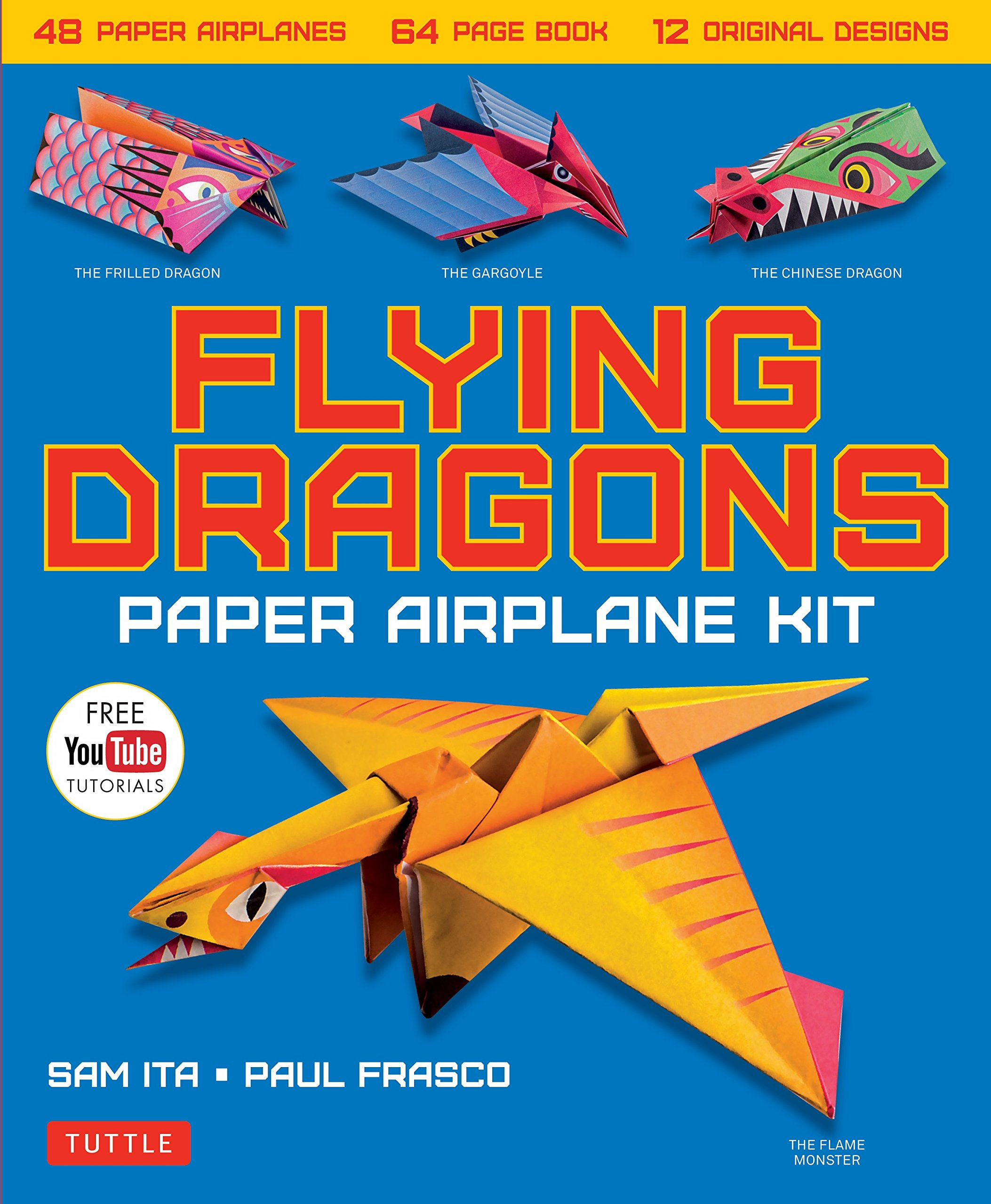 Cheap Paper Airplanes Flying Find Deals On Kite Diagrams Youtube Get Quotations Dragons Airplane Kit 48 64 Page Instruction Book 12
