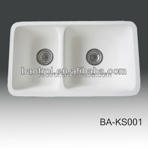 Square Double Bowl bathroom sins for sale (BA-S356)