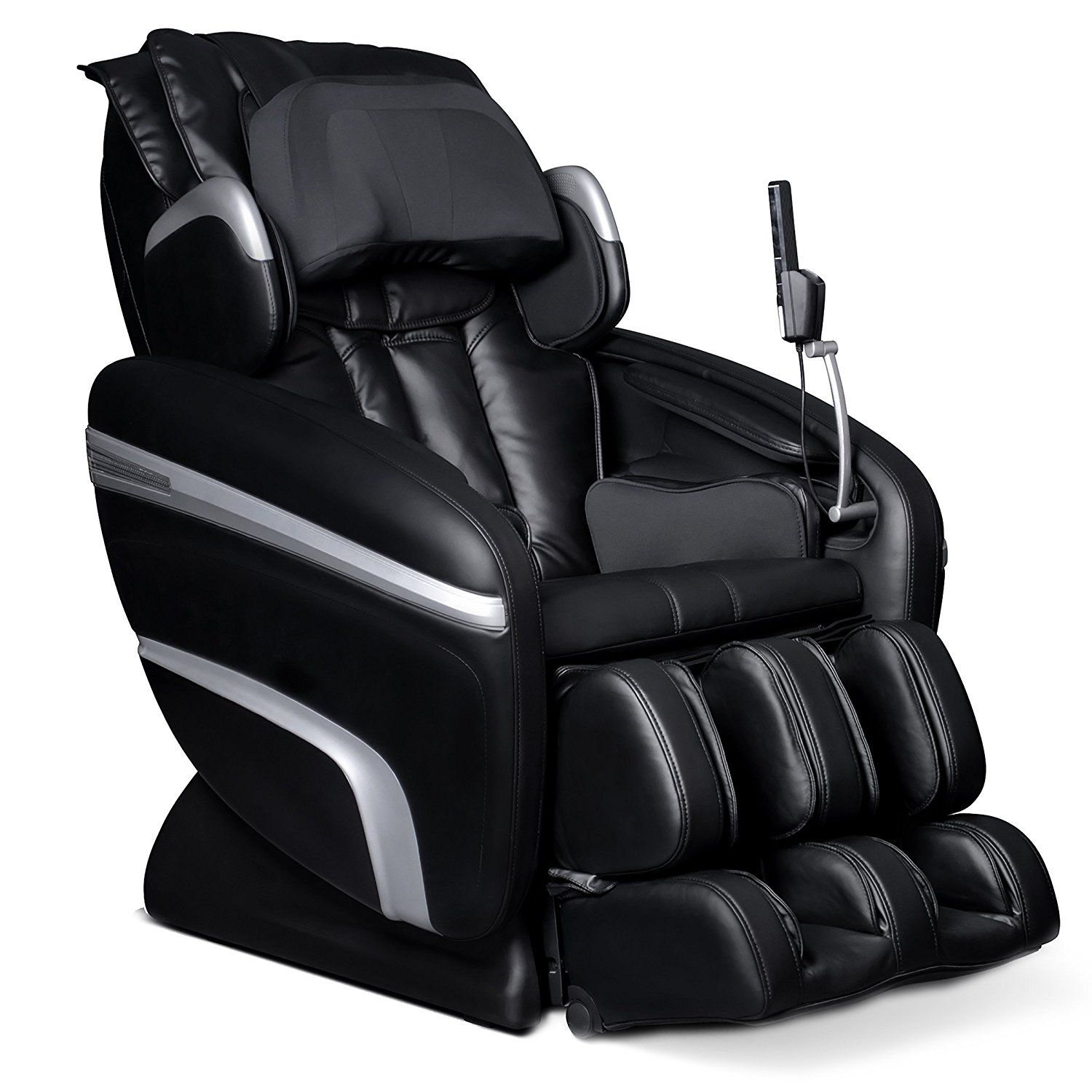 Osaki OS7200HA Model OS-7200H Executive ZERO GRAVITY S-Track Heating Massage Chair, Black, Computer Body Scan, Arm Massage, Quad Roller Head Massage System, 51 Air Bag Massagers, MP3 & iPod Connection with Built-in Speakers