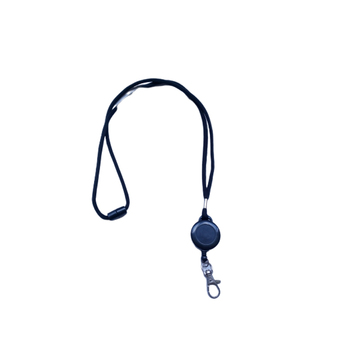 Safety Rope Lanyard With Metal Hook,Polyester Retractable Id Card Round Neck Strap