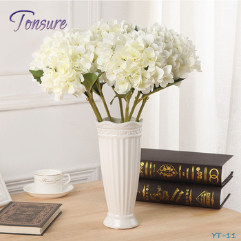 Handmade Decoration Artificial Flower Euro Home Decor Silk Hydrangea  Flowers Artificial Flower