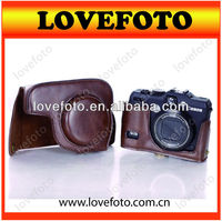 China Bag Shenzhen Supplier PU leather bag camera bag for canon G15 camera