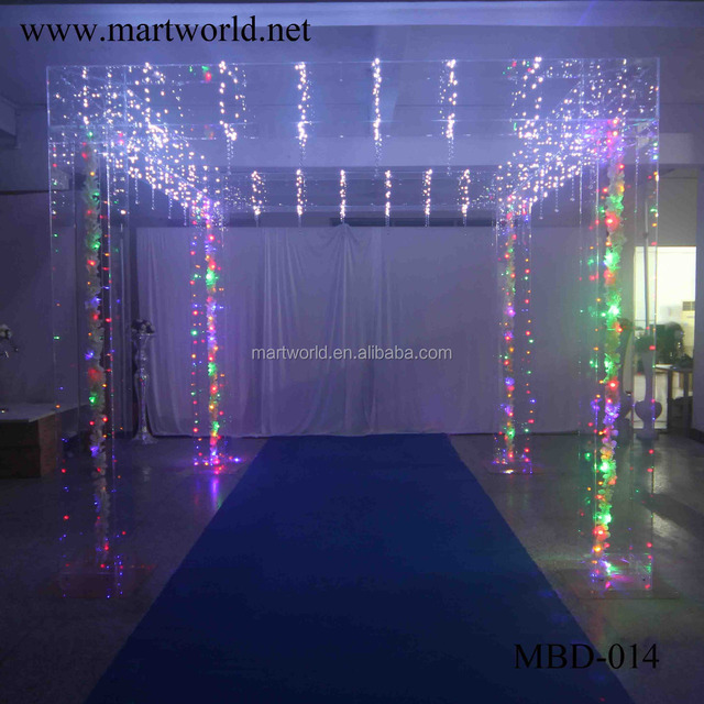China china wedding mandap wholesale alibaba party and wedding decorations wholesale china manufacturer square acrylic mandap flash light wedding decoration material mbd junglespirit Image collections
