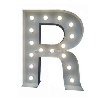 factory direct custom made advertising display signs wedding party bar led marquee letter