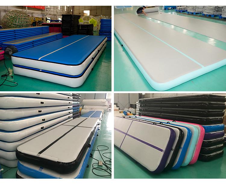 पर्यावरण के अनुकूल उत्पादों थोक DWF पीवीसी Inflatable जिम योग व्यायाम फिटनेस चटाई मैट 15 m के लिए Inflatable हवा ट्रैक Airtrack जिम