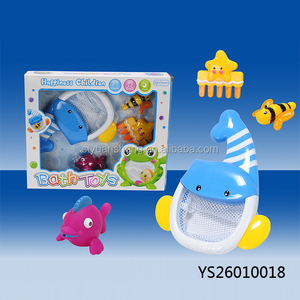2018 China bath tub toy unique children shower time play toy 5 in 1 whale bath toy