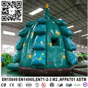 New design Inflatable Christmas tree indoor air bouncer for kids holidays