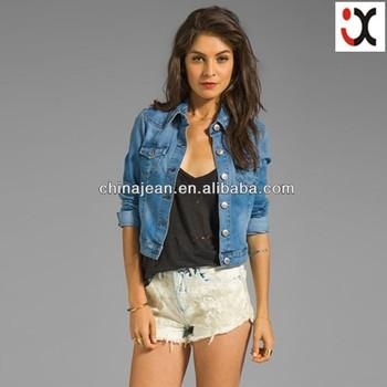 2017 Stylish Denim Jackets For Women Lady Jeans Jacket (jxj24810 ... 8e252a8e1b