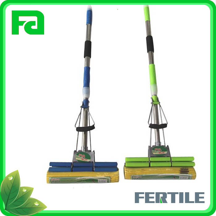 PVA adjustable handle 30X130CM each size 2pcs mop with stainlss steel and pp tube
