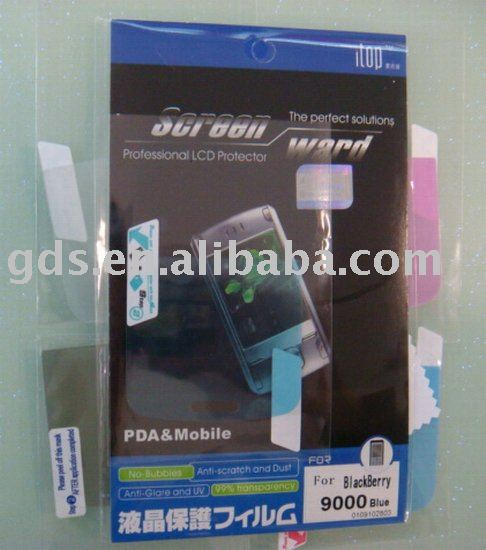 Anti SPY screen protector for blackberry bold 9000/B.B 9000 screen protector/Screen protector for B.B 9000