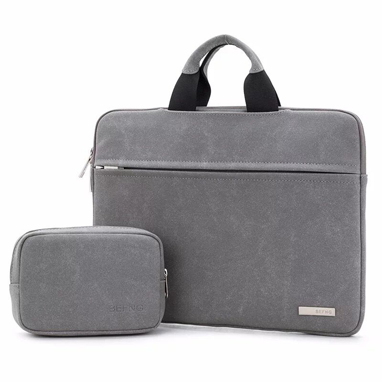 PU Leather High Quality Laptop Bag Black Promotion Computer Bag