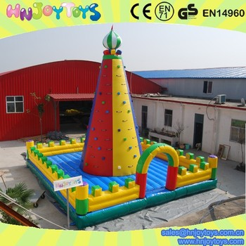 Inflatable Bounce House Tower Climb Wall with jumper amusement climbing Game