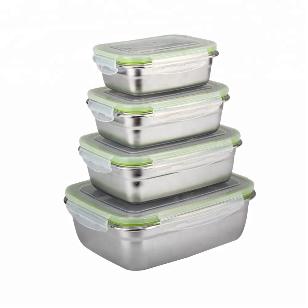 100% lekvrije 18/8 rvs lunch box/rvs container/voedsel verpakking