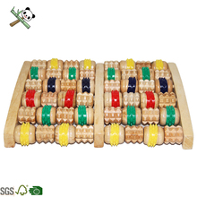 Sichuan Bamboo Roller Bead Foot Massager Roller Wooden Massager /Acupressure & Reflexology Tool