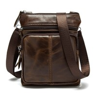 High Quality Shoulder Bag Business Men Genuine Leather Messenger Bag
