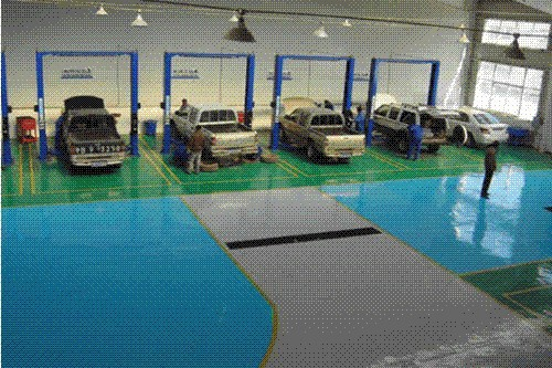 Caboli epoxy floor paint for car parking